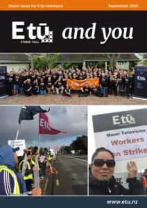 Cover image of the magazine 'E tū and you' for September 2018.